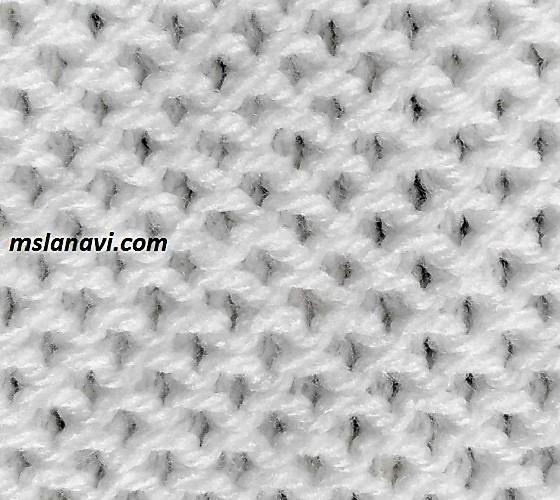 Рельефный узор для вязания спицами №122