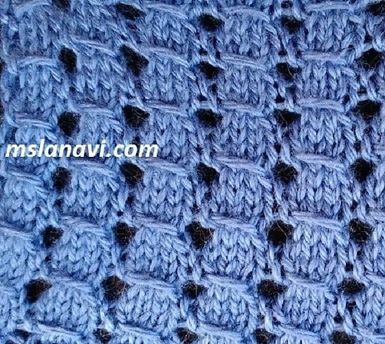 Рельефный узор для вязания спицами №121
