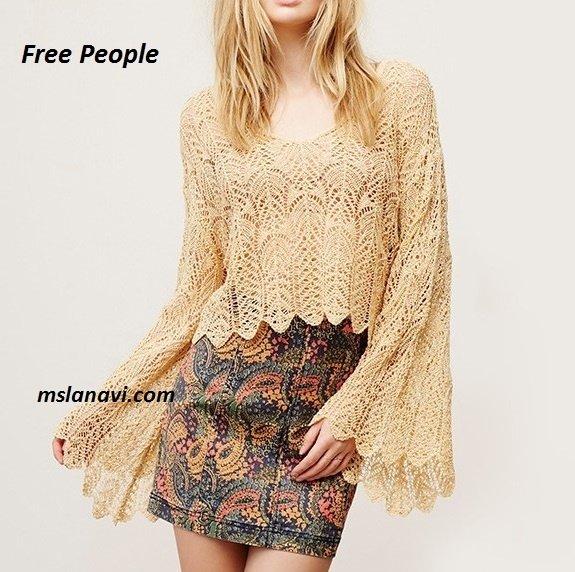 Ажурный пуловер спицами от Free People