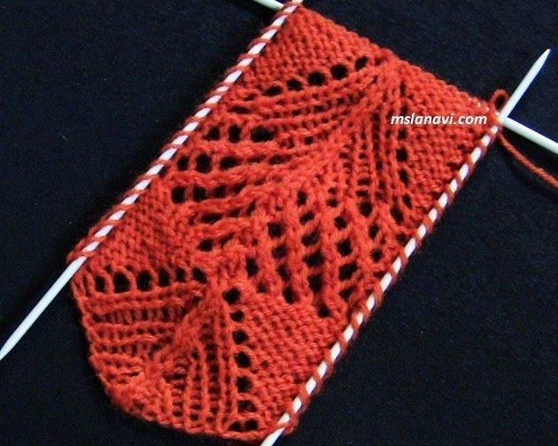 ажурный узор для пуловера