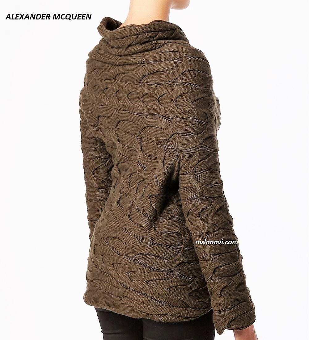 Вязаный пуловер широкими косами от ALEXANDER MCQUEEN