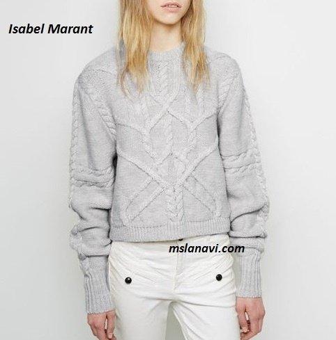 Вязаный пуловер спицами от Isabel Marant