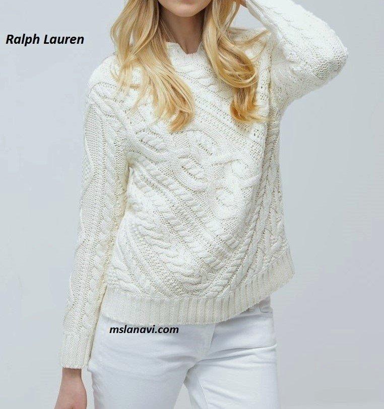 Вязаный пуловер спицами от Ralph Lauren
