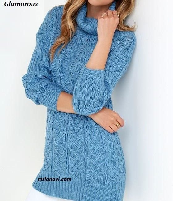Вязаный свитер спицами от Glamorous