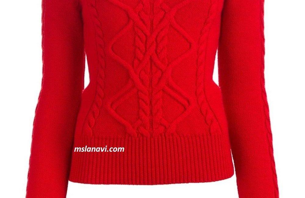 Вязаный свитер спицами от Isabel Marant