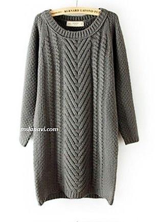 Вязаное платье спицами от Zara