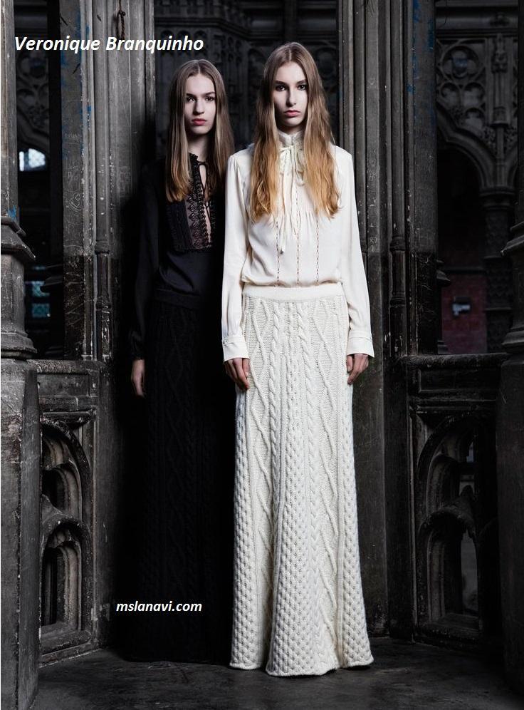 Вязаные юбки спицами от Veronique Branquinho