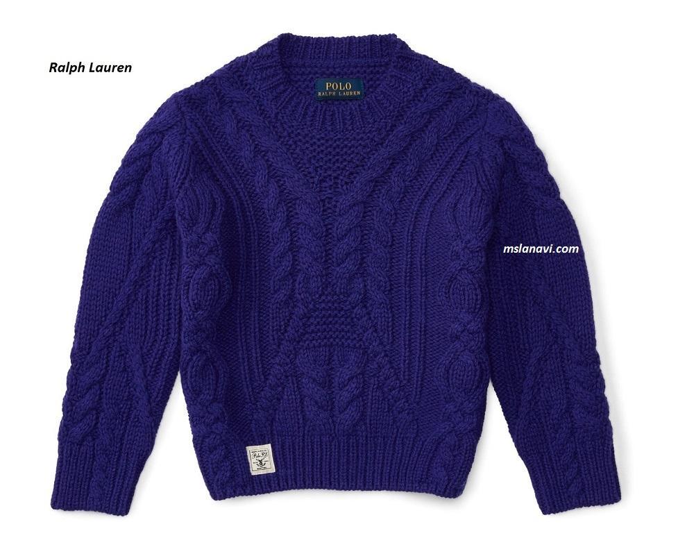 Вязаный свитер спицами от Ralph Lauren