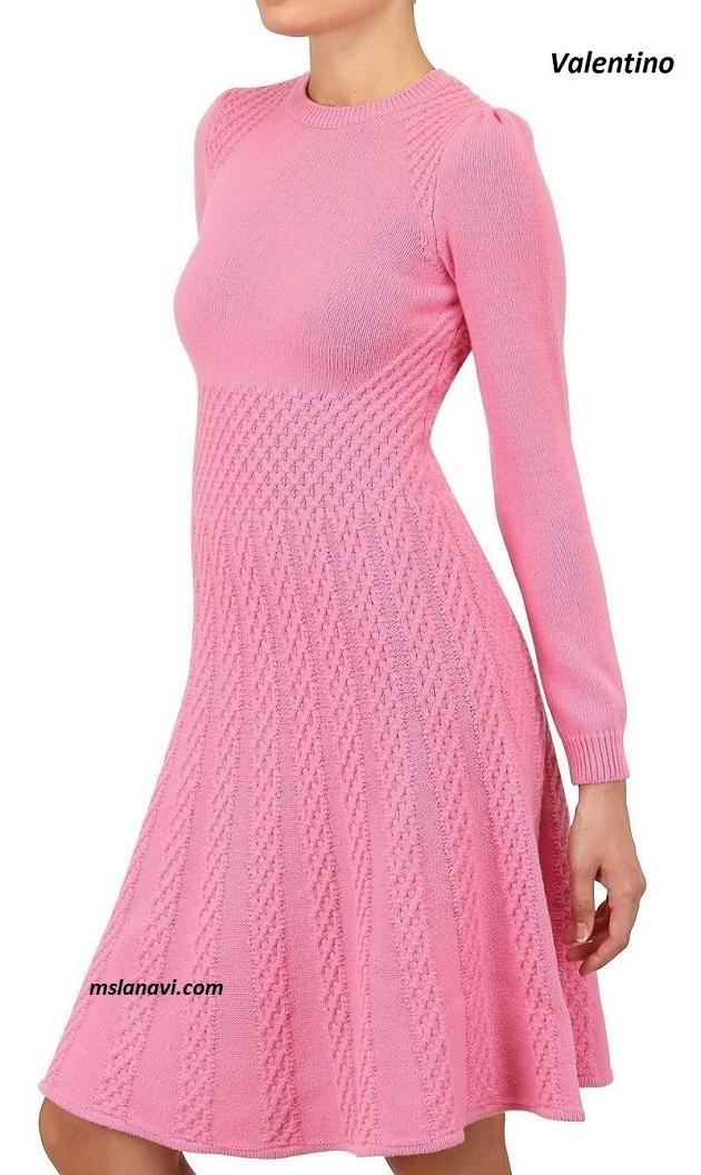 Вязаное платье спицами от Valentino