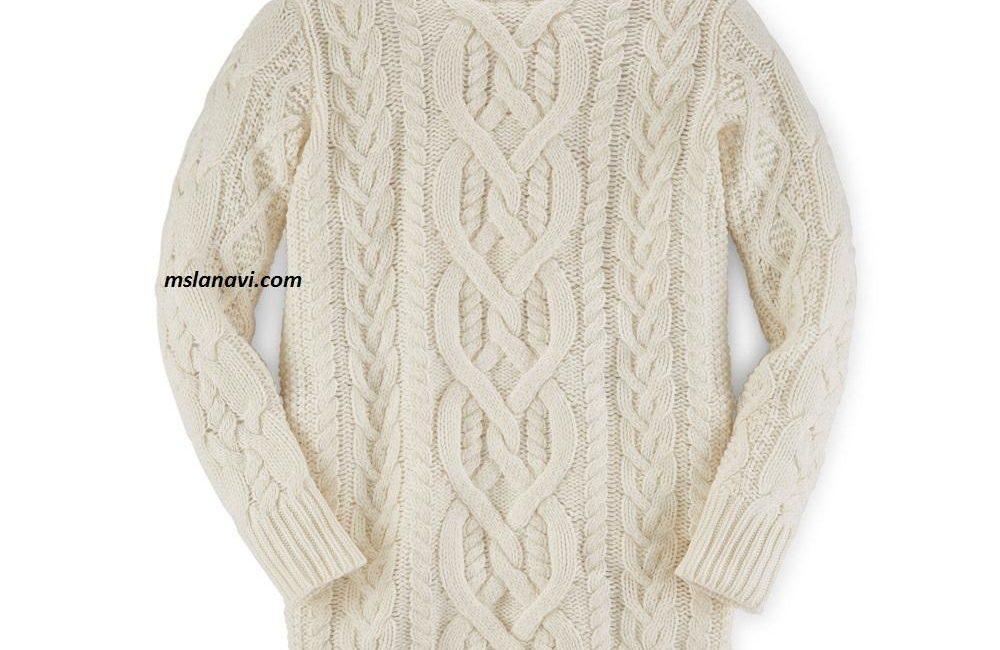 Вязаный свитер аранами от Ralph Lauren