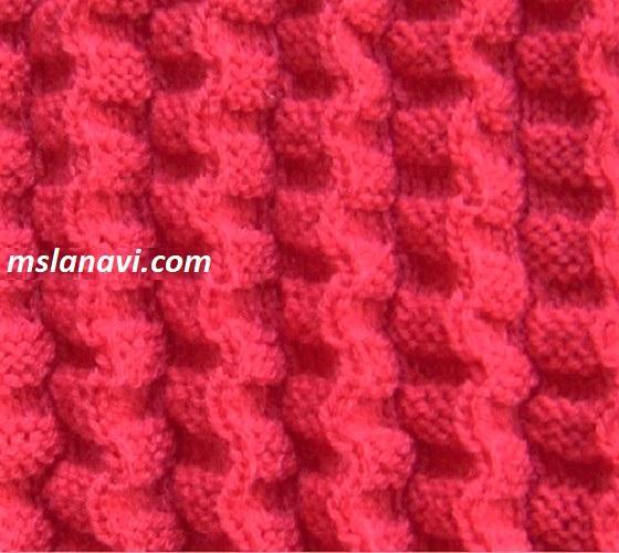 Рельефный узор для вязания спицами №123