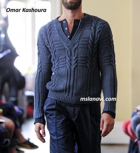Мужской пуловер-поло от Omar Kashoura