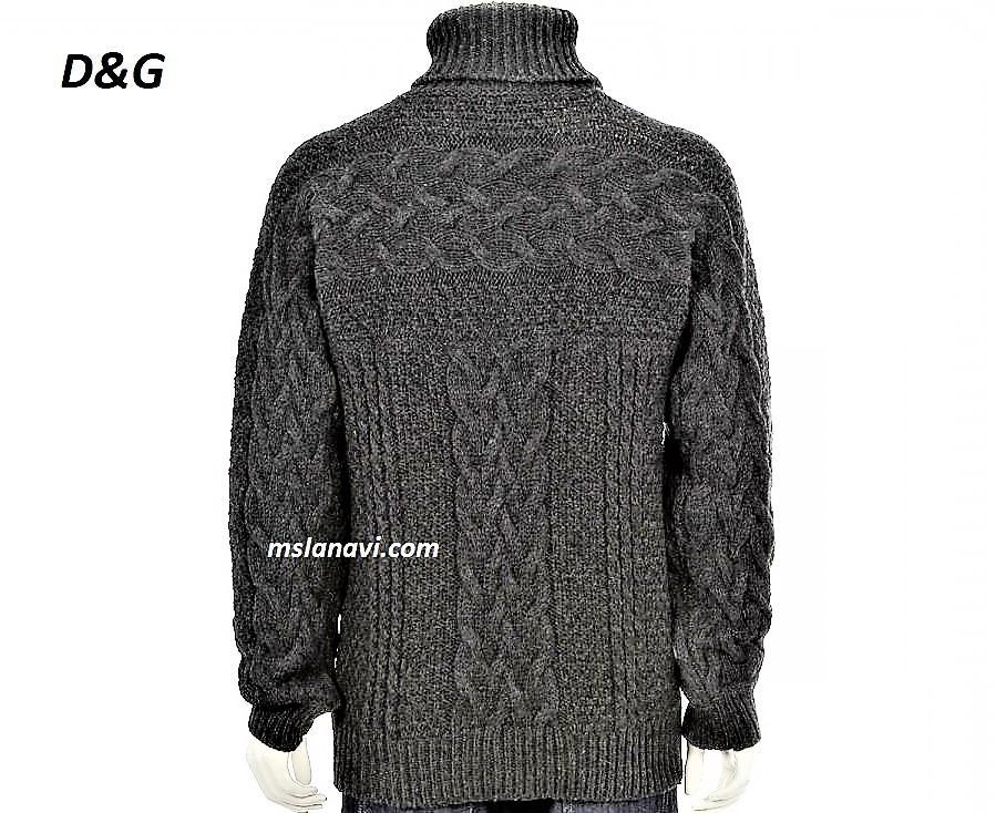 Мужской свитер для вязания спицами от D&G