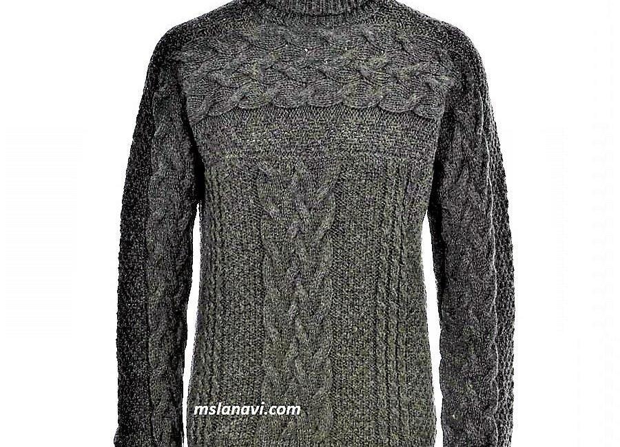 Вязаный свитер для вязания спицами от D&G