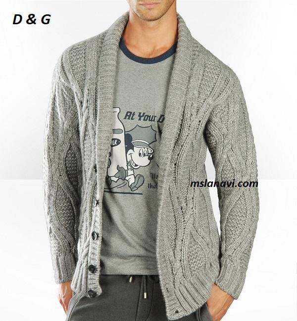 Мужской кардиган спицами от D & G