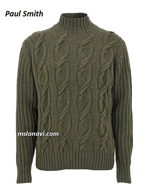 Мужской вязаный свитер от Paul Smith