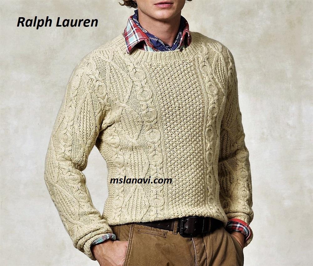 Мужской свитер спицами от Ralph Lauren
