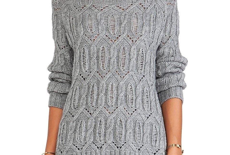 Вязаный пуловер спицами от 360CASHMERE