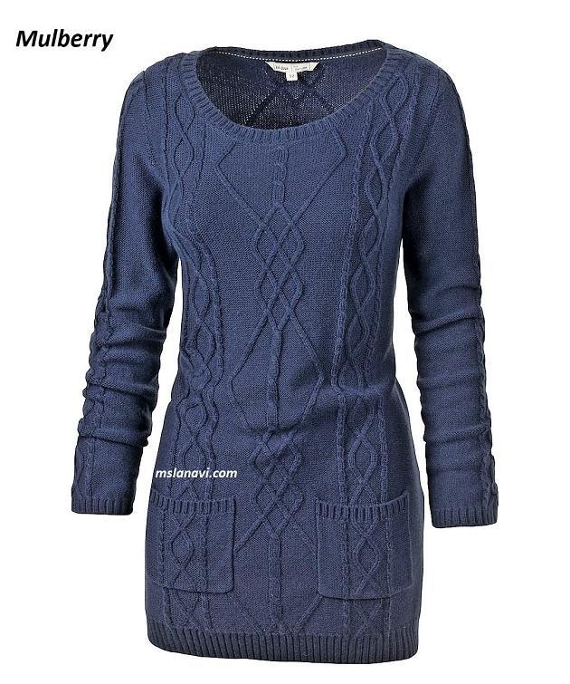 Вязаное платье спицами от Mulberry