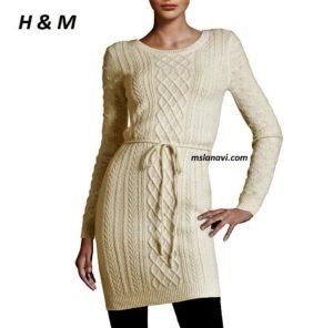 Вязаное платье спицами от H & M