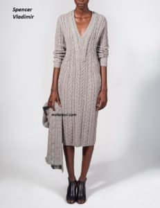 Вязаное платье спицами от Spencer Vladimir