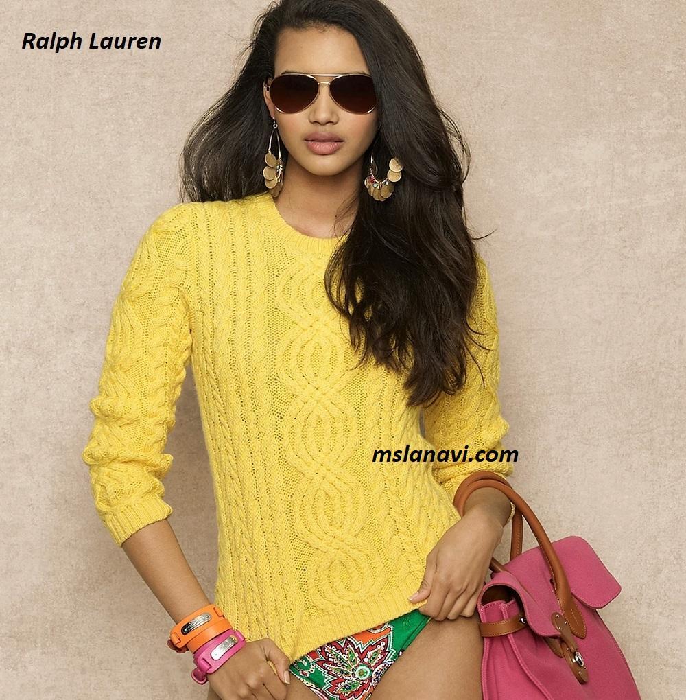 Летний свитер спицами от Ralph Lauren