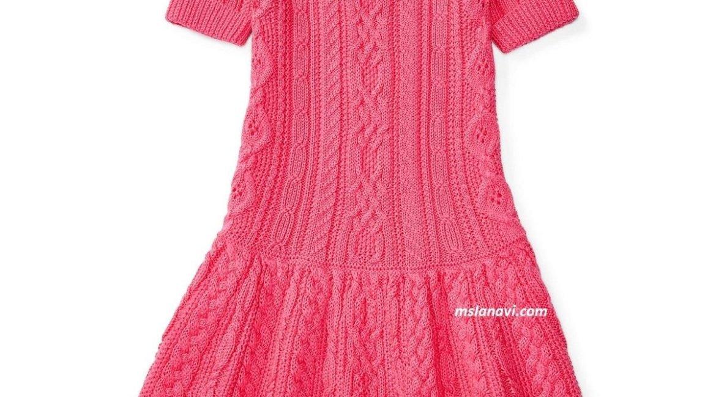 Платье спицами для девочек от Ralph Lauren