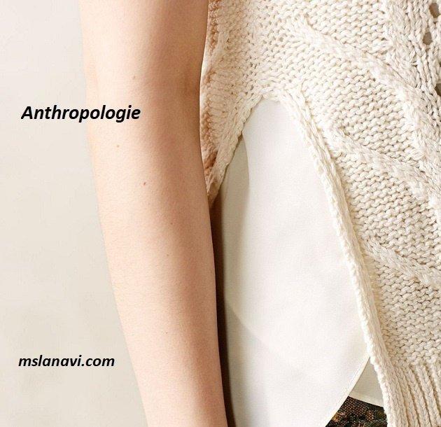 Арановый топ спицами от Anthropologie