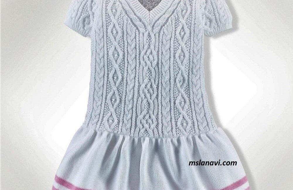 Белое платье для девочки от Ralph Lauren