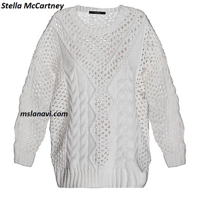 Белый пуловер спицами от Stella McCartney