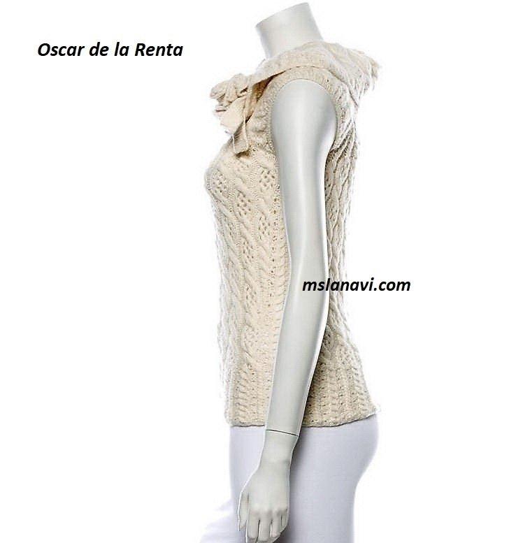 Летняя кофточка спицами от Oscar de la Renta