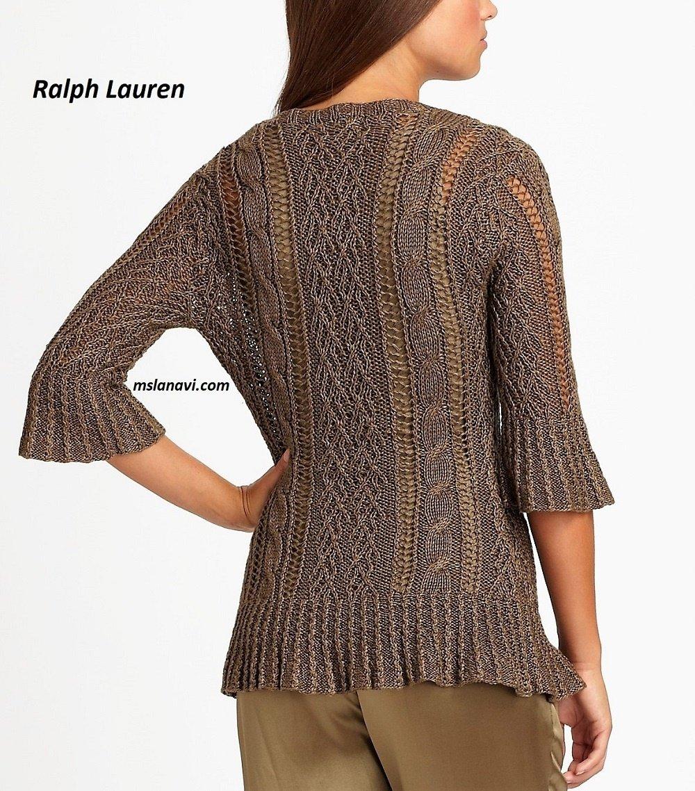 Женственный жакет спицами от Ralph Lauren