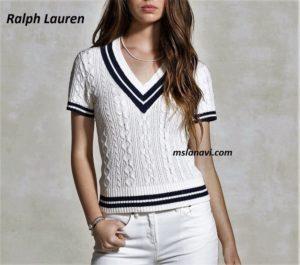 Белый топ спицами от Ralph Lauren