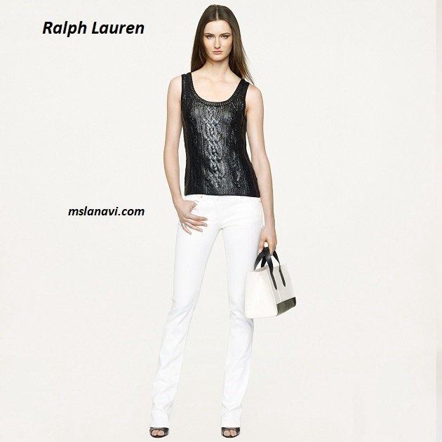 Топ-майка спицами от Ralph Lauren