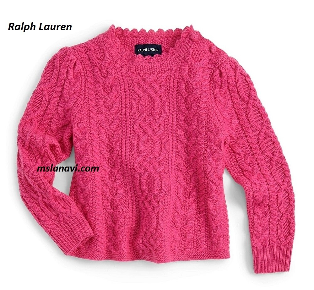 Детский свитер спицами от Ralph Lauren