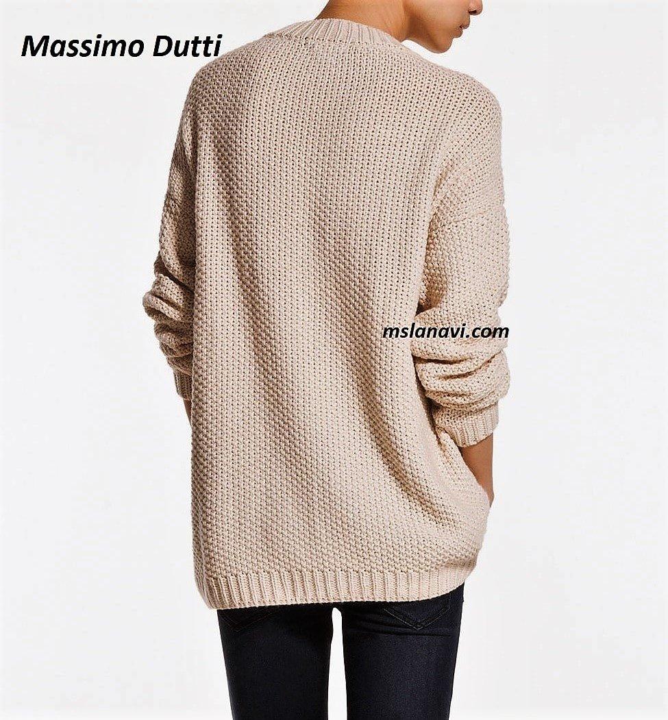 Красивый свитер спицами от Massimo Dutti