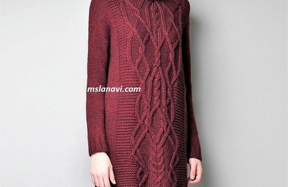 Чудное платье спицами от ZARA
