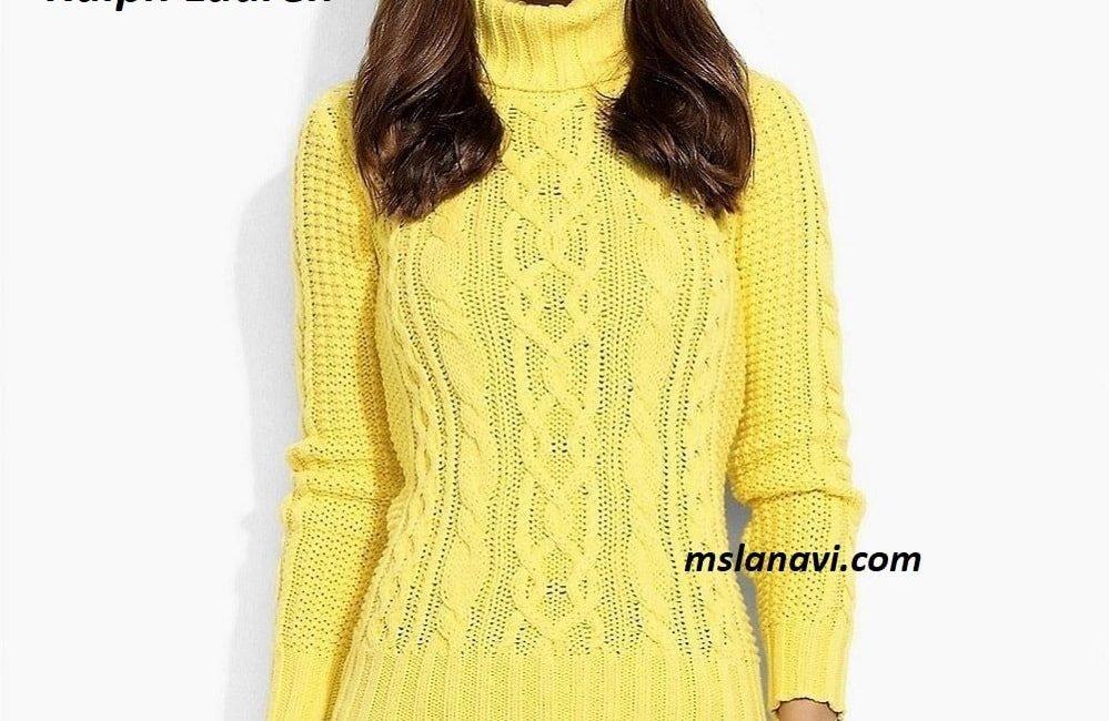Яркий свитер спицами от Ralph Lauren