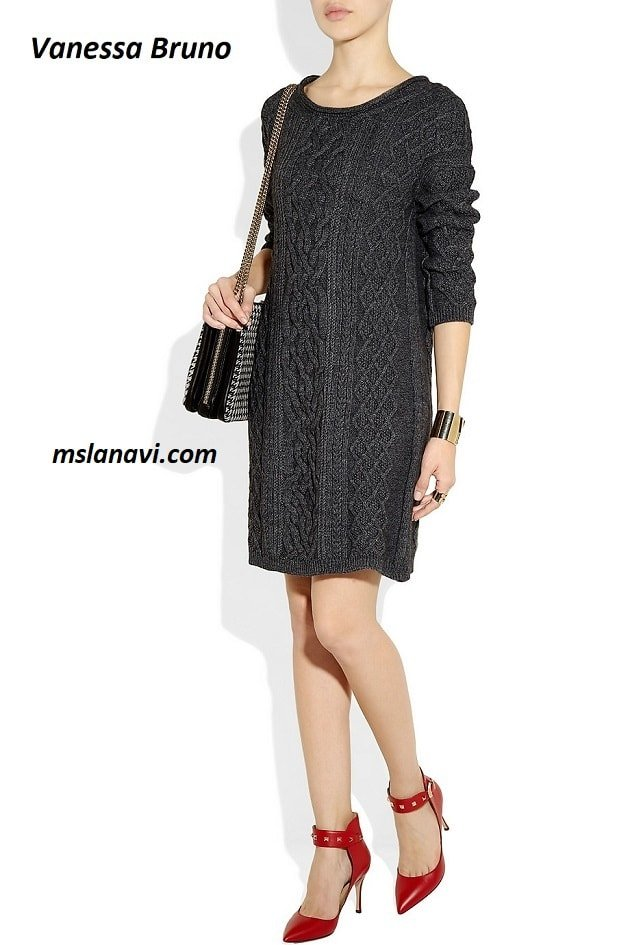 Вязаное платье с аранами от Vanessa Bruno Athe