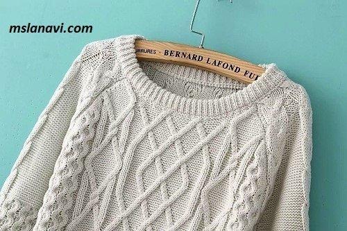 Вязаный свитер с аранами из Aliexpress