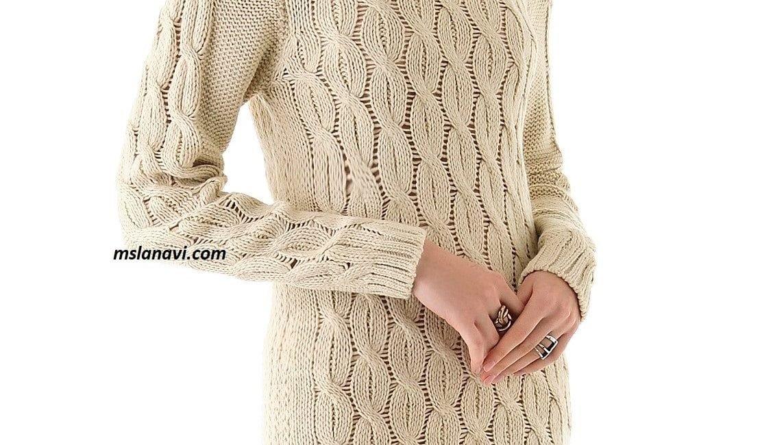 Вязаное платье спицами ONE by Maurie & Eve