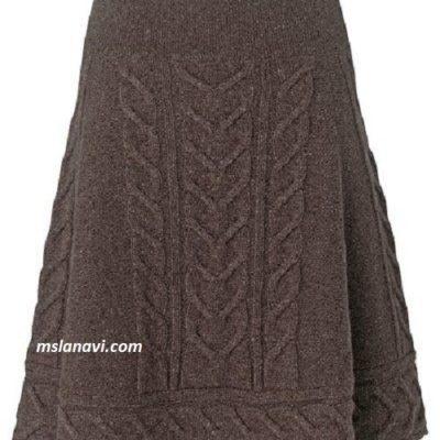 Вязаная юбка-трапеция из магазина John Lewis